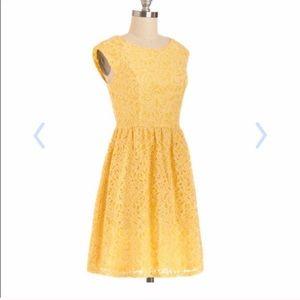 Yellow Lace Dress - Modcloth - Moon